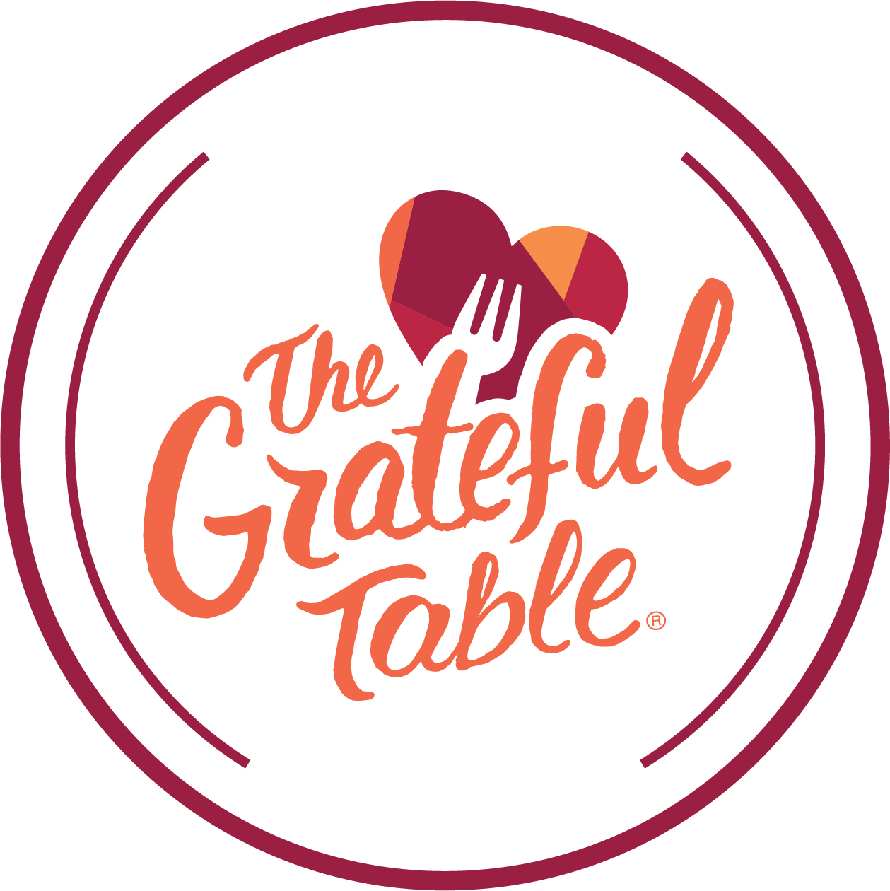 The Grateful Table Black Logo